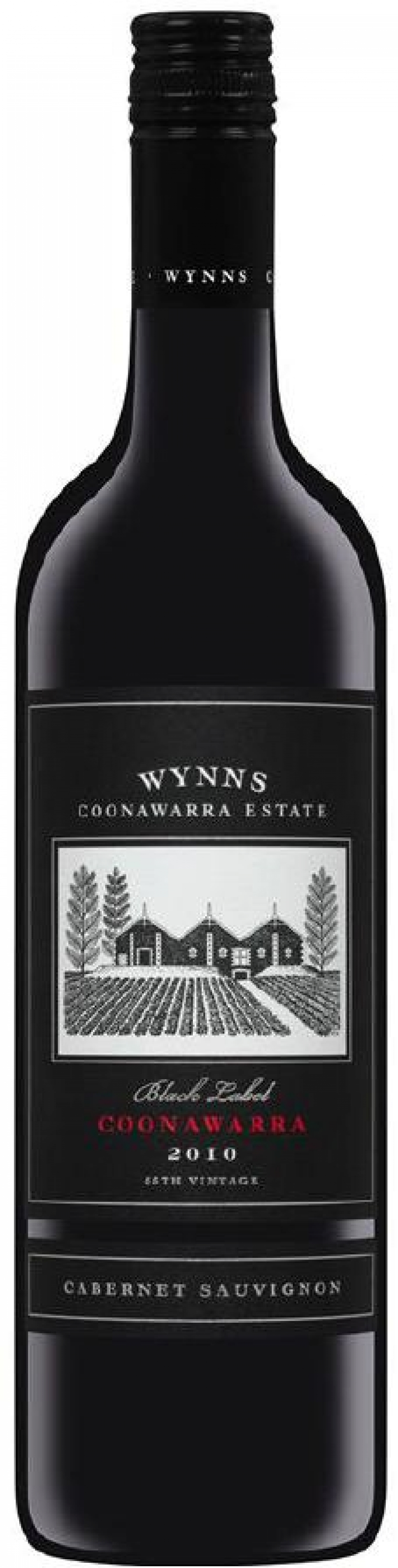 This is a graphic of Declarative Wynns Coonawarra Estate Black Label Cabernet Sauvignon
